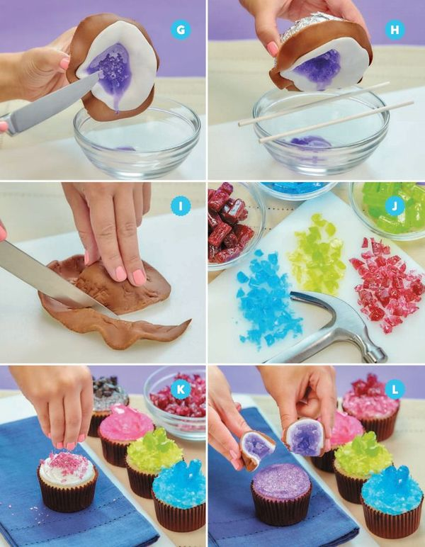 Cake of the Day: Geode Candy Cupcakes from 'Nerdy Nummies'
