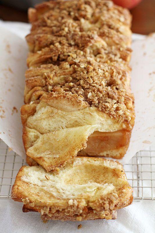 Apple Cinnamon Streusel Pull-Apart Bread | girlversusdough.com @stephmwise