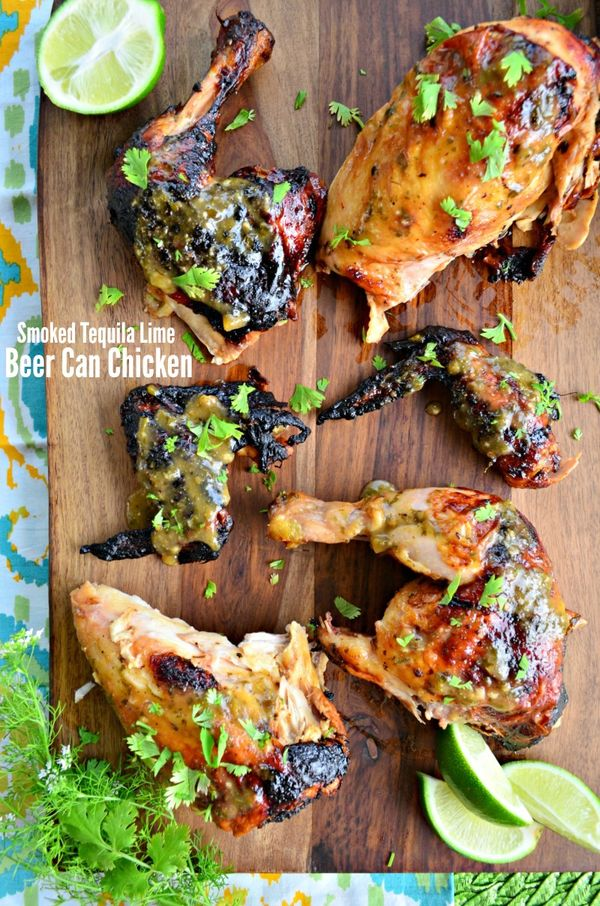 Smoked Tequila Lime Beer Can Chicken #WorldMarketTribe