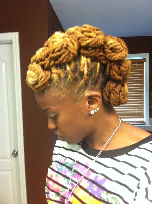 Faux hawk locs hairstyle