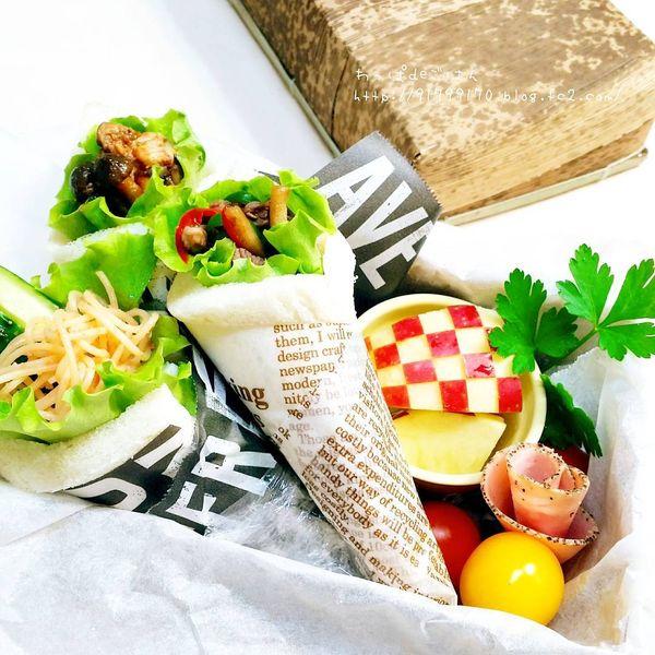手巻き寿司のような見た目も可愛い挟まないサンドイッチサンドらず