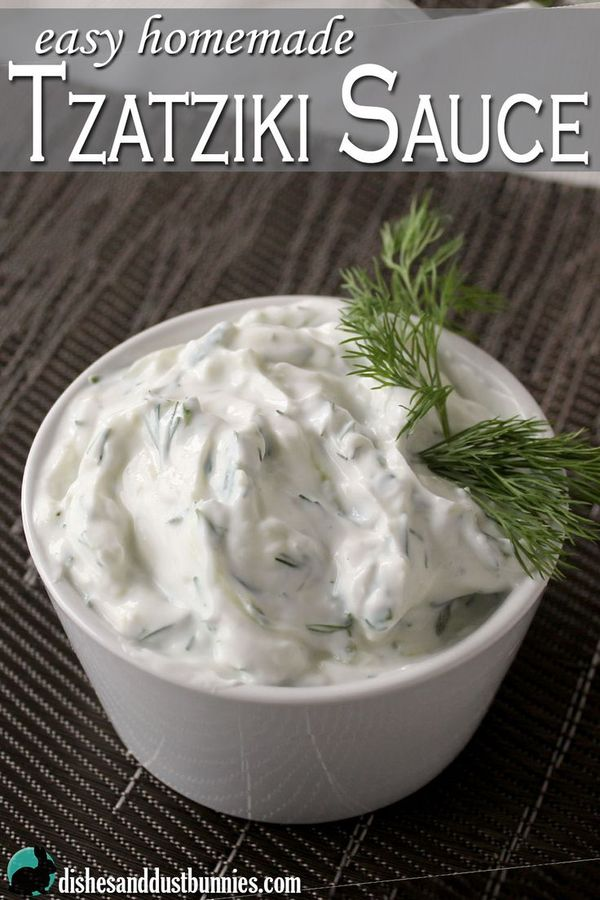 Tzatziki sauce works great as a dip with pita bread and is also awesome used in sandwiches or wraps!