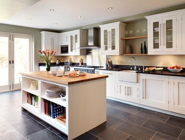 Harvey Jones Shaker kitchen with Walnut island wwwharveyjones