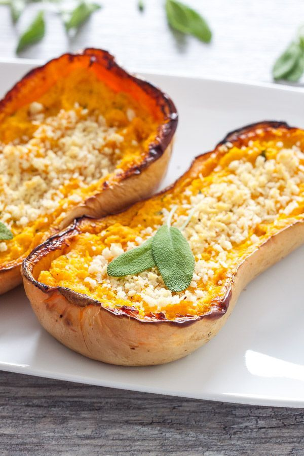 Twice Baked Butternut Squash | Recipe Runner | Sweet roasted butternut squash made creamy and flavorful with goat cheese and sage! #thanksgiving