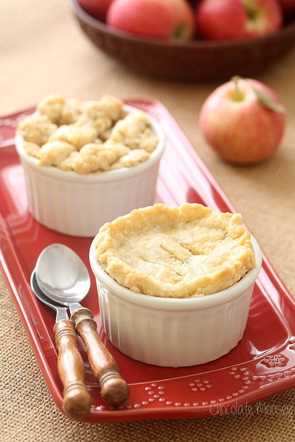 Apple Pie For Two - made with both homemade pie crust and homemade pie filling. Perfect for a date night in