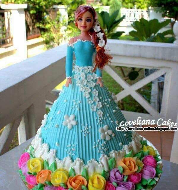 レシピとお料理がひらめくSnapDish - 45件のもぐもぐ - barbie doll cake/chocolate fudge cake decor buttercream by liana