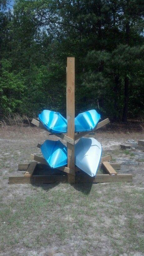 Kayak storage on pinterest kayak rack kayak storage for Canoe storage shed