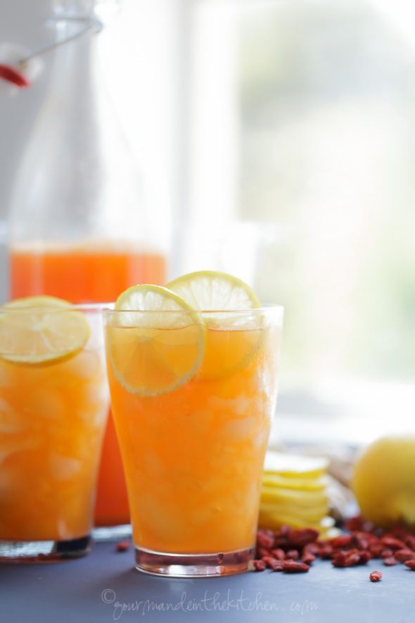 This lemon goji switchel is a healthy and thirst quenching drink that tastes as good as it makes you feel.