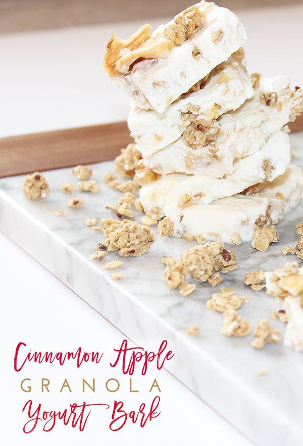 Cinnamon Apple Granola Yogurt Bark Recipe Tutorial