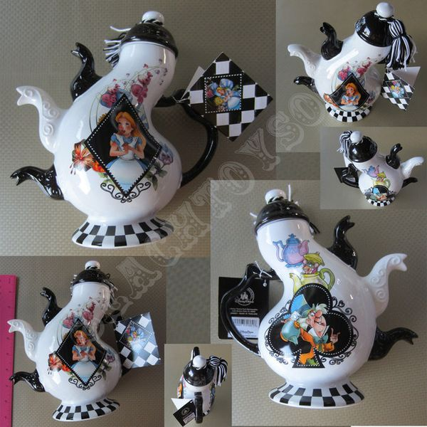 """""""Alice in Wonderland"""" version of a multi-spout teapot.… 