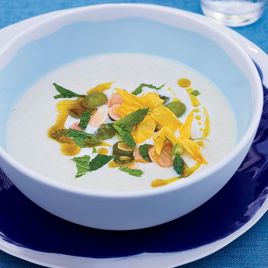 White Gazpacho: This refreshing gazpacho—made with apples, grapes, almonds and cucumber—is a perfect balance of sweet and tangy.