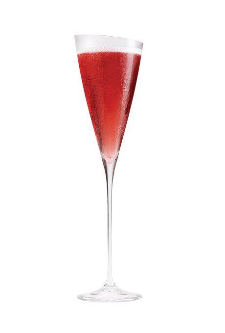 1oz Godiva chocolate raspberry infused vodka and 1/2oz creme de cassis....yum