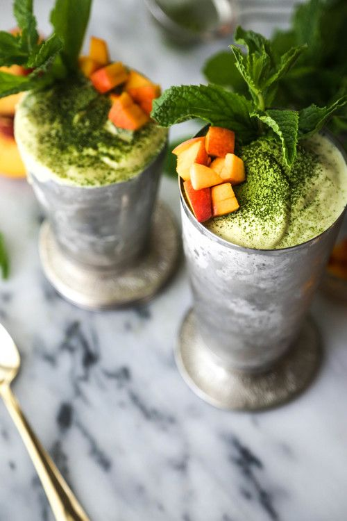 Matcha Peach Lassi — Probably This