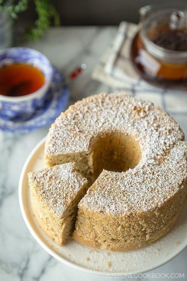 Earl Grey Chiffon Cake   Easy Japanese Recipes at JustOneCookbook.com