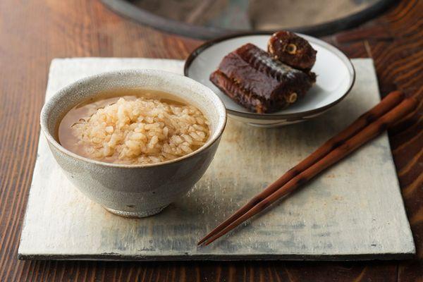 茶粥(チャゲ)+ 棒鱈の煮付け / 佐渡