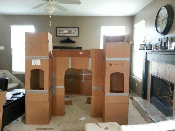 Comment construire un chateau en carton - Nous et les minibouts - faire une chambre dans un salon