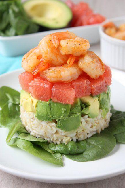 Grapefruit, Avocado, and Shrimp Salad | http://www.thekitchenpaper.com/grapefruit-avocado-and-shrimp-salad/