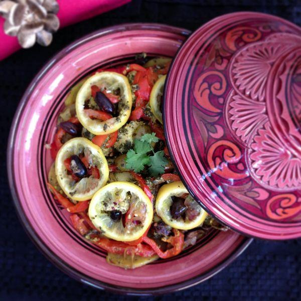 Moroccan Fish Tagine   {p.s. it's healthy}