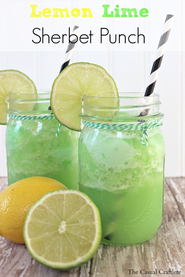 This Lemon Lime Sherbet Punch is so refreshing. It's also sweet and almost like a dessert.