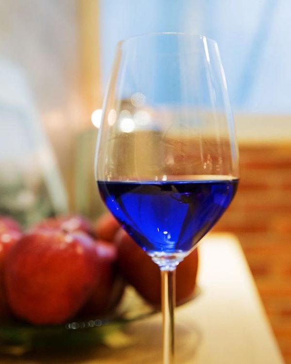 Blue wine is now a