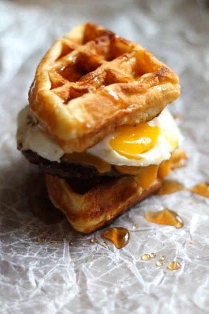 Waffle Breakfast Sandwiches - @Alaska from Scratch
