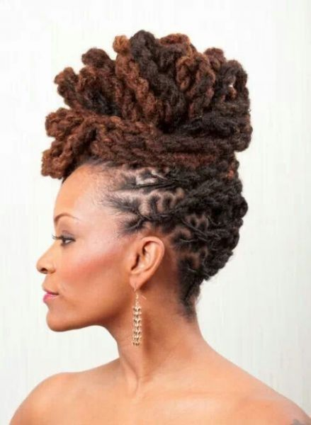 Updo locs hairstyle