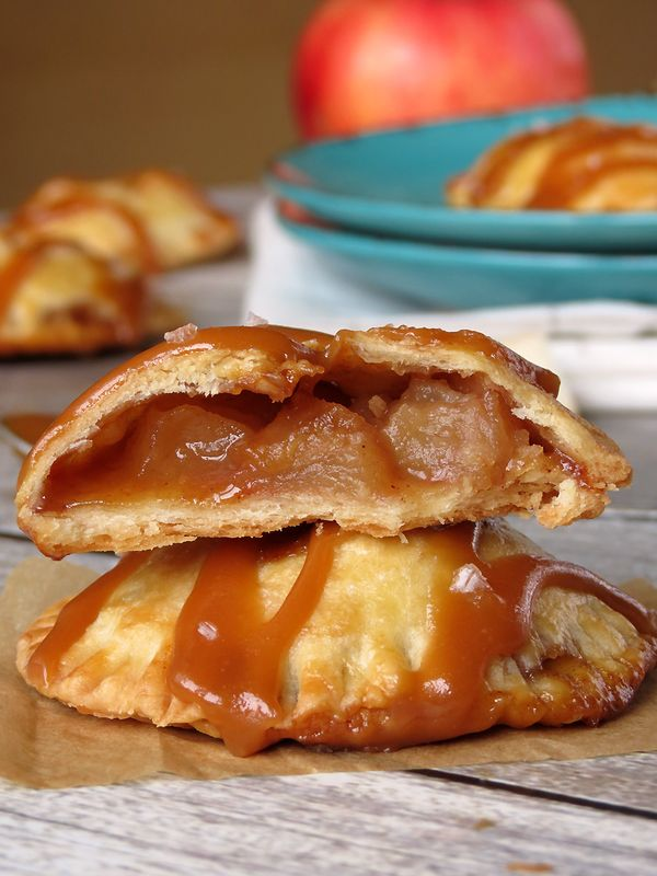 Mini Caramel Apple Hand Pies | YummyAddiction.com