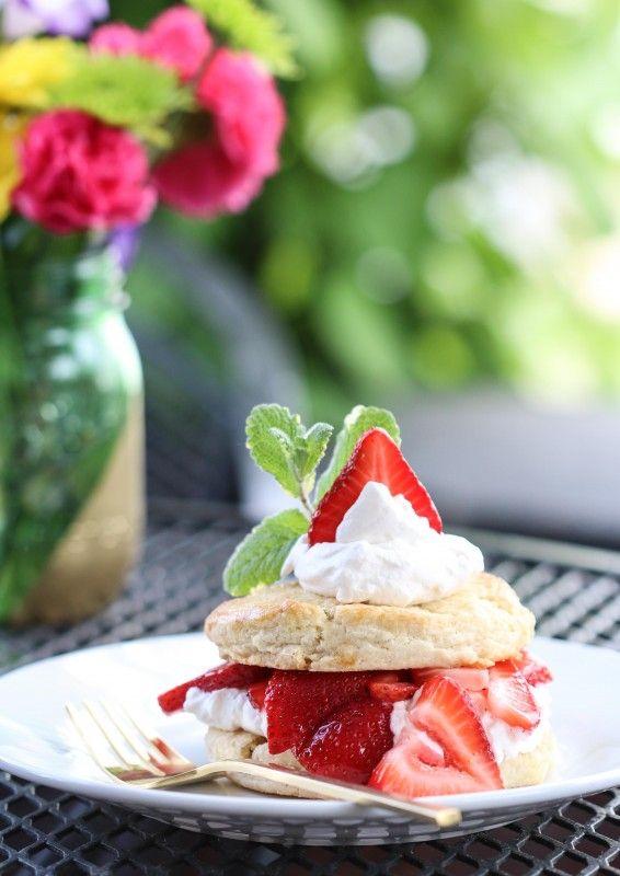 White Chocolate Strawberry Shortcake - a classic summer dessert! Get the recipe on BHG's Delish Dish blog: http://www.bhg.com/blogs/delish-dish/2014/05/28/white-chocolate-strawberry-shortcake/