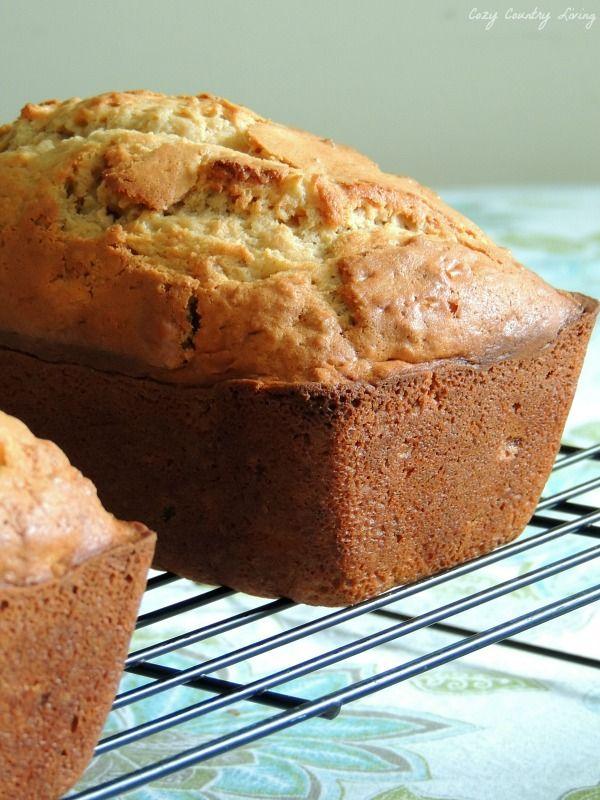 Pineapple Nut Bread ( makes 2 loaves)