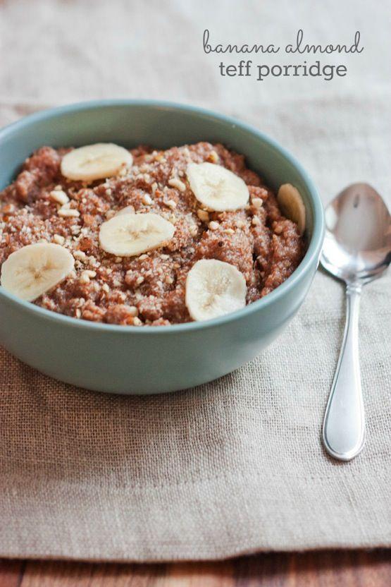 Banana Almond Teff Porridge