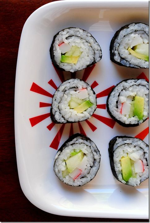 Step-by-step: How to make California rolls! Add cream cheese for even more flavor! Switch the crab for smoked salmon and use cream cheese for bagel rolls Fill with shrimp tempura, avocado, and cucumber and spicy mayo (mayo and sriracha mixture) - cheapest shripm tempura rolls ever!!!