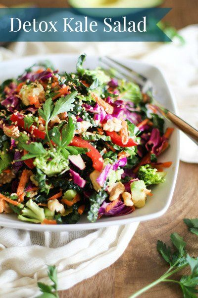 Detox Kale Salad. Eat this every day because this is REAL FOOD your body needs. #permanentwayofeating