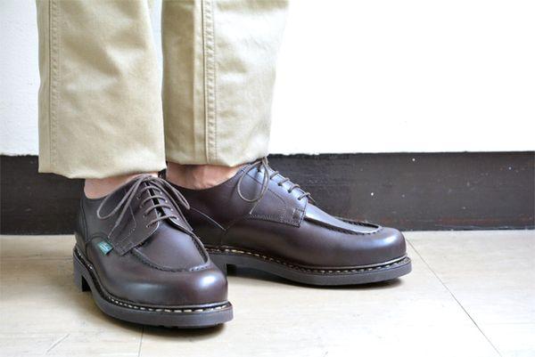 【脱スニーカー】パラブーツ・シャンボード格調ある男の革靴最前線|上品カジュアルを無理なく作る4色、サイズ選び、お手入れ