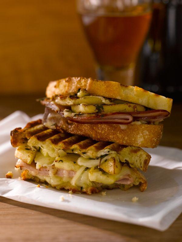 Ham, Gruyère, and Apple Panini Recipe created by Giada De Laurentiis