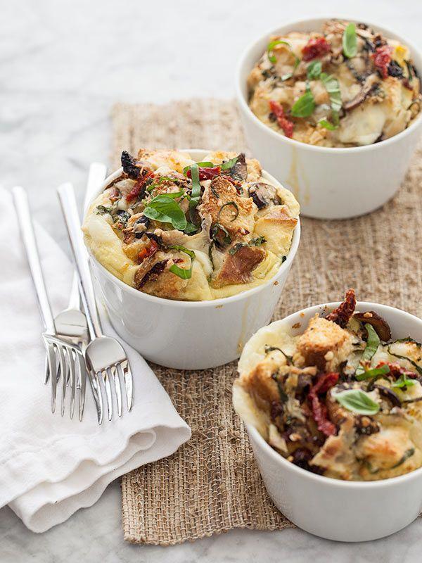 Mediterranean Strata | FoodieCrush.com #brunch #recipe