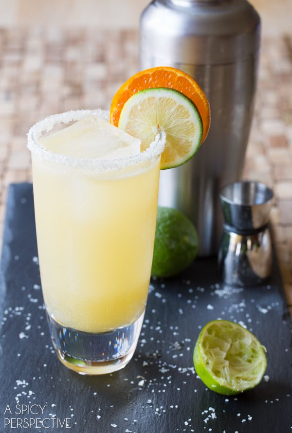 This is the absolute BEST margarita recipe we've ever tasted! Margaritas that are tangy, slightly sweet and complex in flavor. Add a nice rim of salt and you