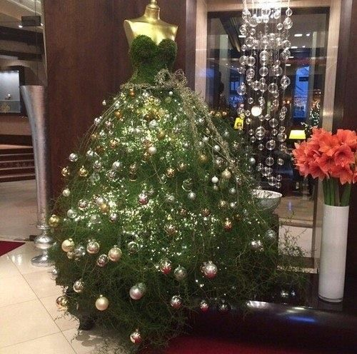 Dresses mannequins dresses form trees dresses christmas trees form
