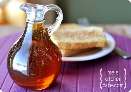 Might have to try this instead of the high fructose corn syrup stuff in the store...Homemade maple syrup!