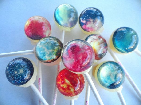 Nebula 10 FLAVOR set edible image lollipops by Vintage Confections