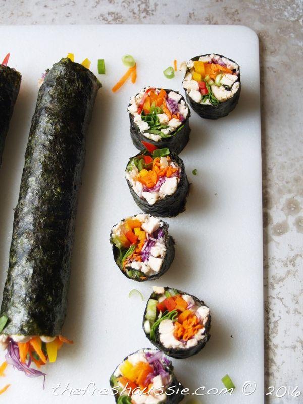 rainbow sushi (grain-free) - The Fresh Aussie
