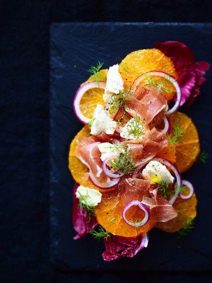 オレンジと生ハムのカルパッチョ風サラダ - Simple-5han Simple-habita お洒落に簡単料理