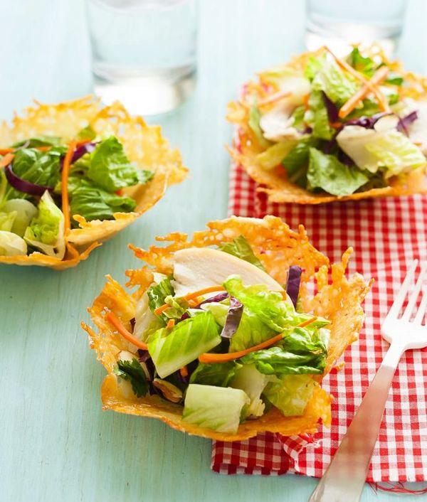 Edible Parmesan Cheese Bowls Recipe #yum #recipe #eat
