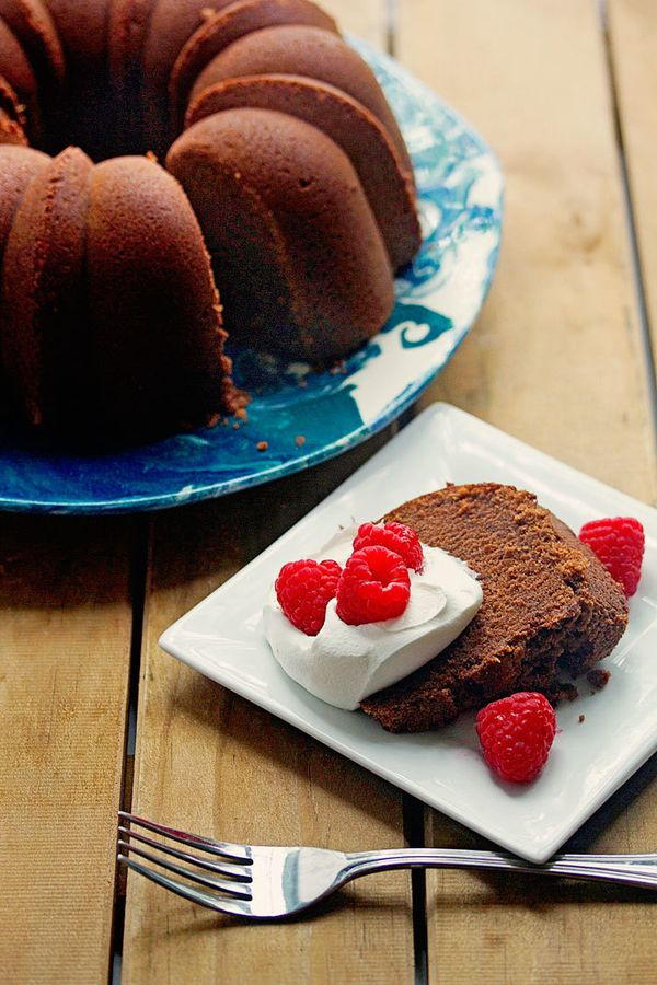 The ultimate chocolate pound cake with a perfect intense chocolate flavor and moist and tender texture.