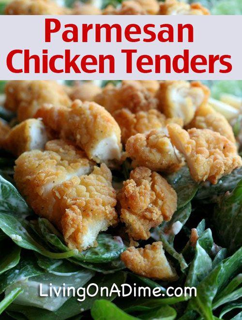 3 Ingredient Parmesan Chicken Tenders Recipe