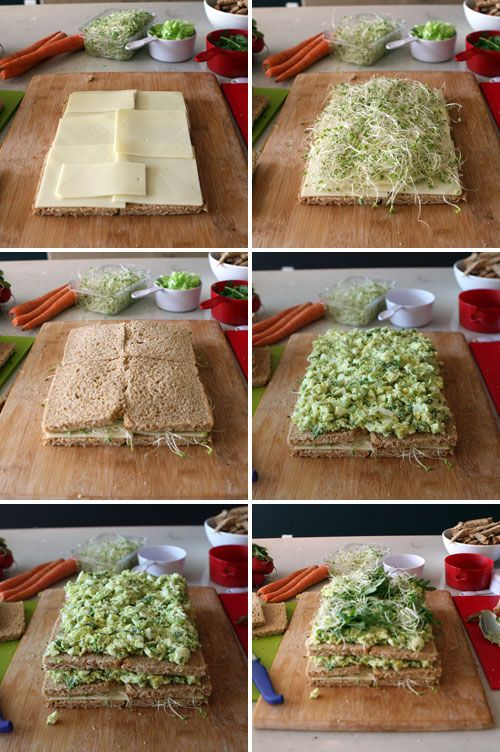 Step-by-step sandwich cake tutorial