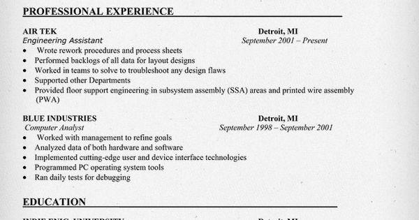 modelling resume