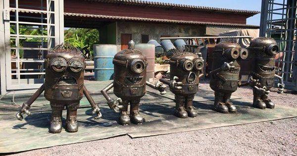 Фигуры из металлолома фото