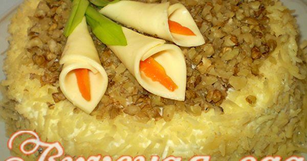 Слоёный салат с курицей и ананасом рецепт с фото пошагово