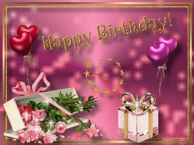 Поздравления с днём рождения девушке на английском
