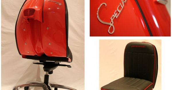 Retro inspiration: hand crafted chairs reviving lambretta scooter elements